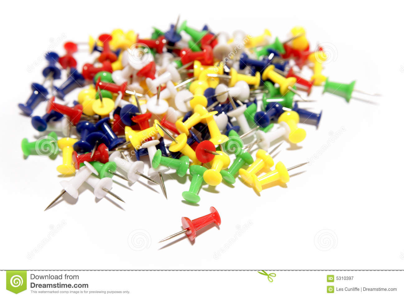 Download A pressione immagine stock. Immagine di thumbtacks, cancelleria - 5310397