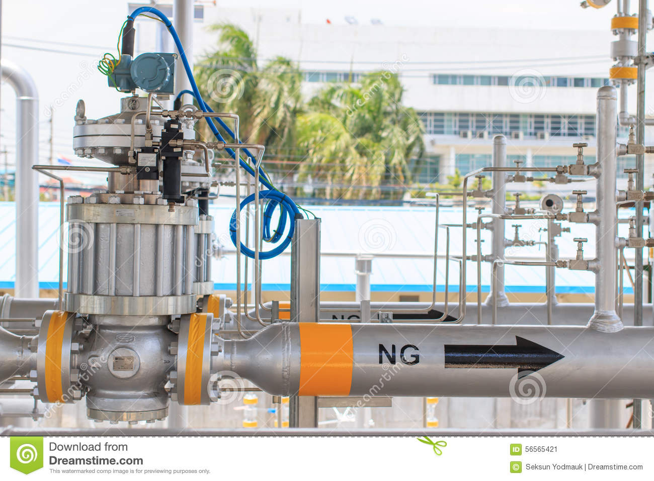 Pressure Control Valve In Pipeline Stock Image Image Of