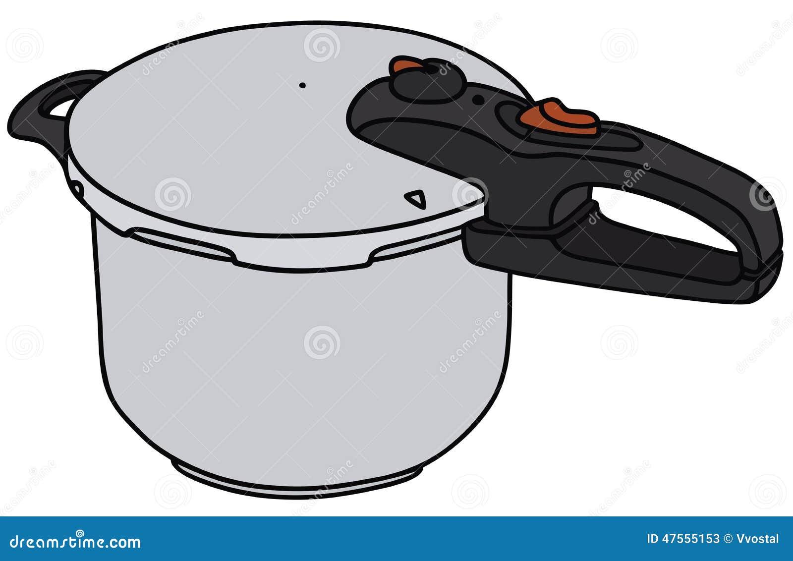 Cartoon Electric Cooker ~ Pressure cooker stock vector image