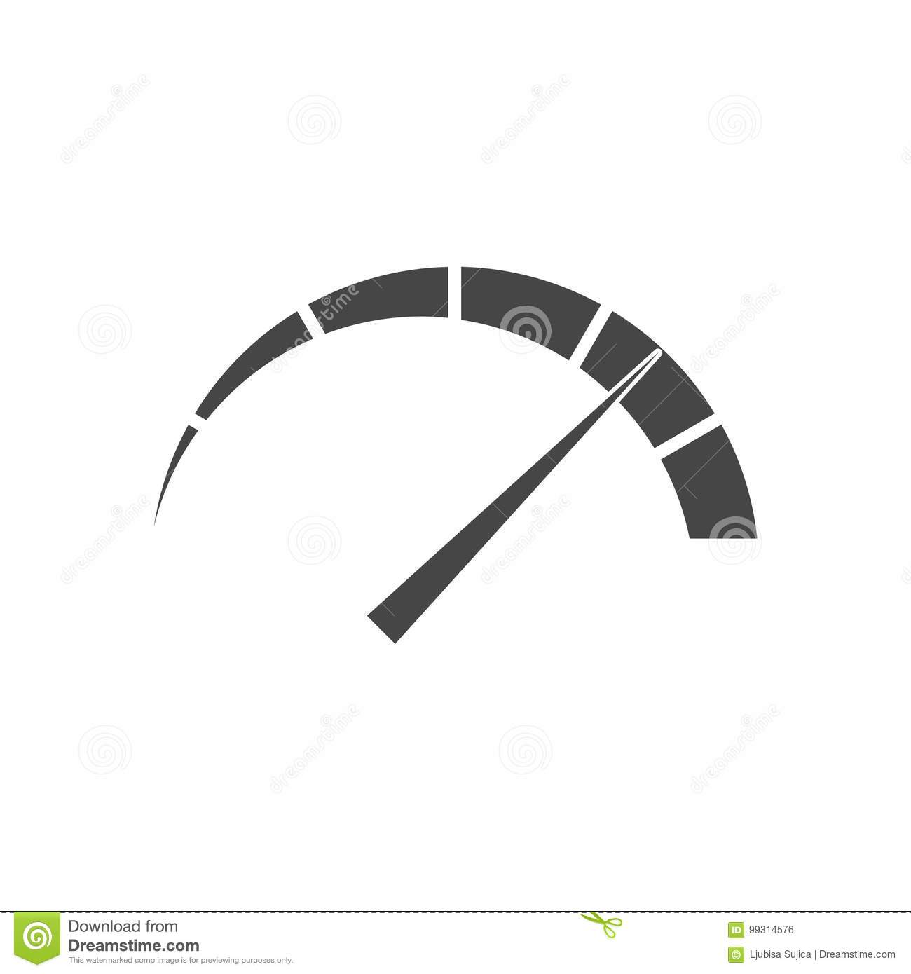 Pressure Gauge Manometer Icon Stock Vector Illustration Of