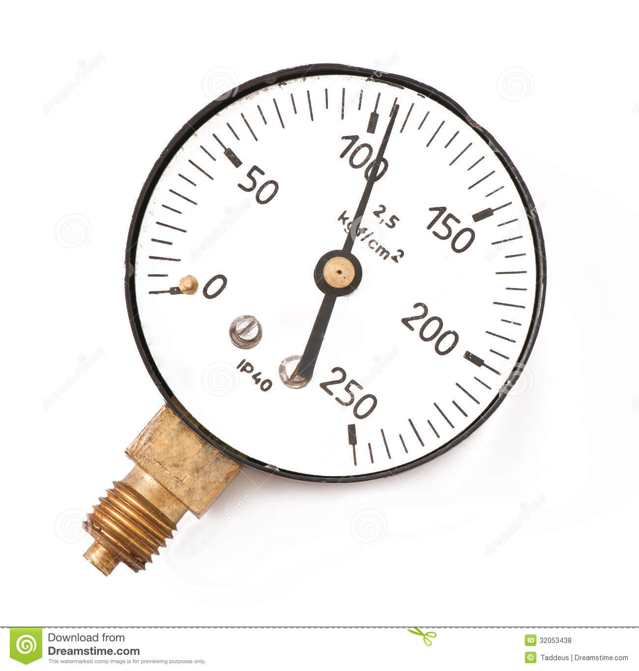 Pressure Measuring Instruments : Pressure measuring instrument royalty free stock photos