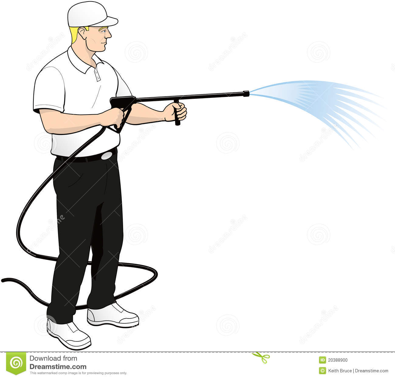 Pressure Power Soft Washing Clip Art