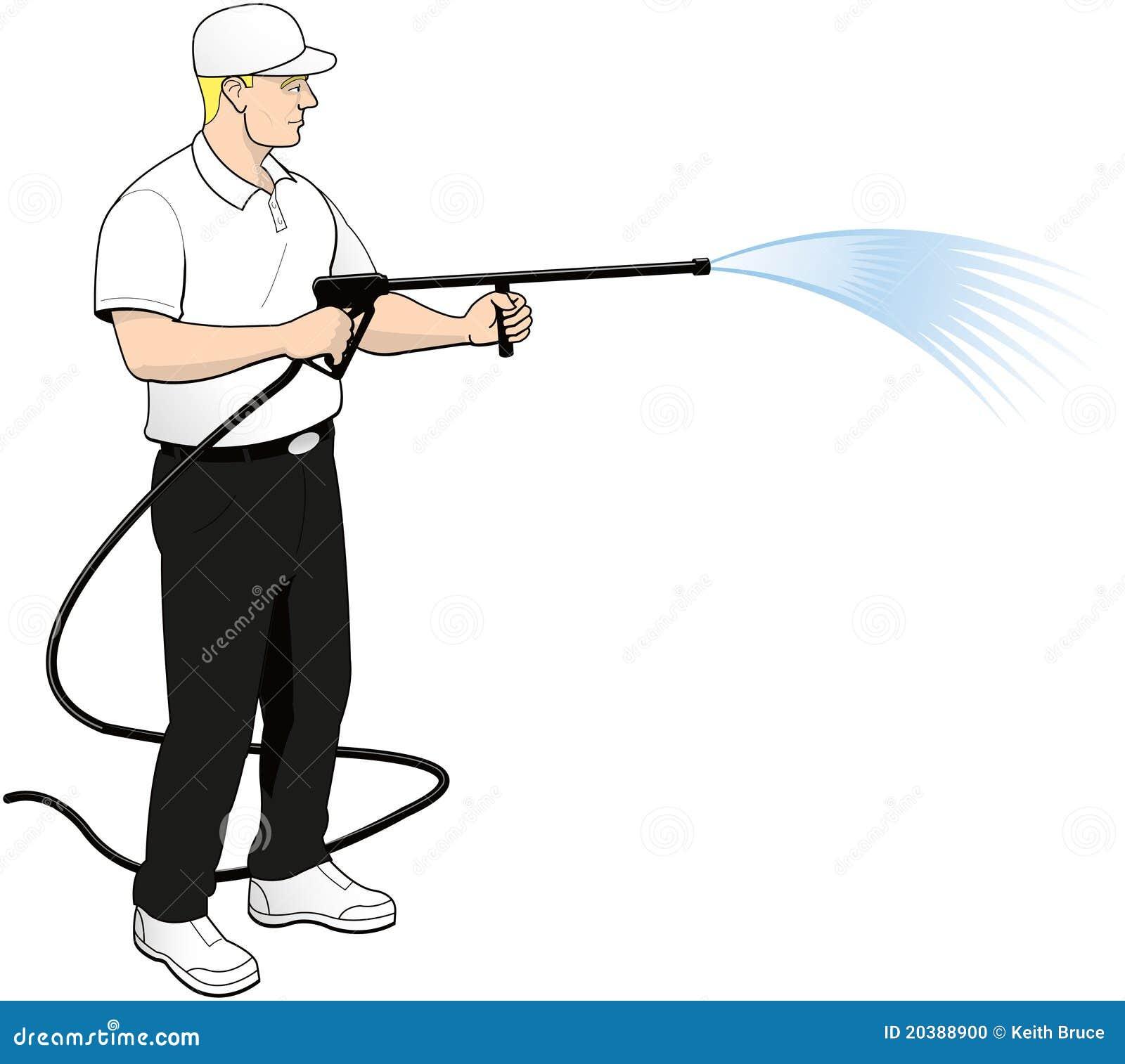 Pressure Power Soft Washing Clip Art Stock Photo Image