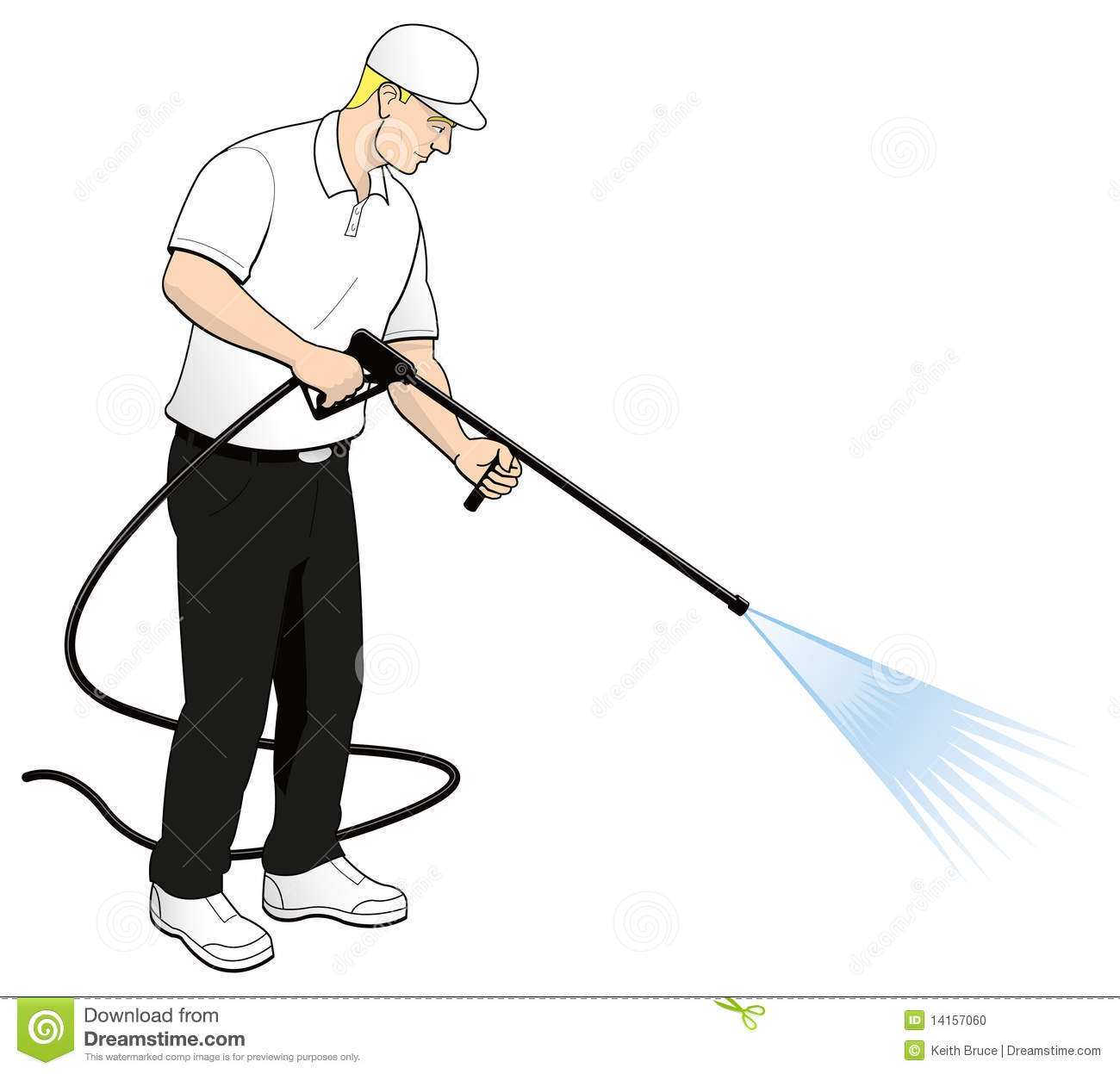 pressure power washing tech clip art stock vector illustration of rh dreamstime com