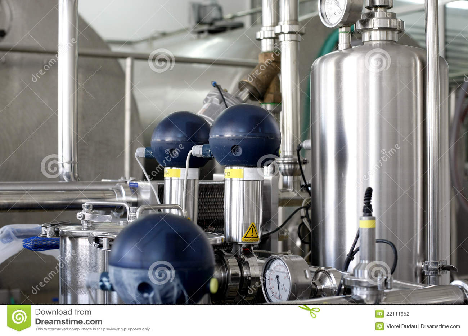 Pressure tanks in factory