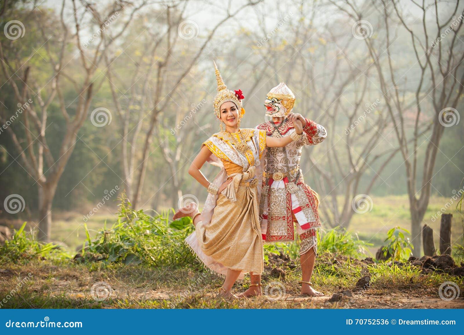 Prestazioni di pantomimo in Tailandia