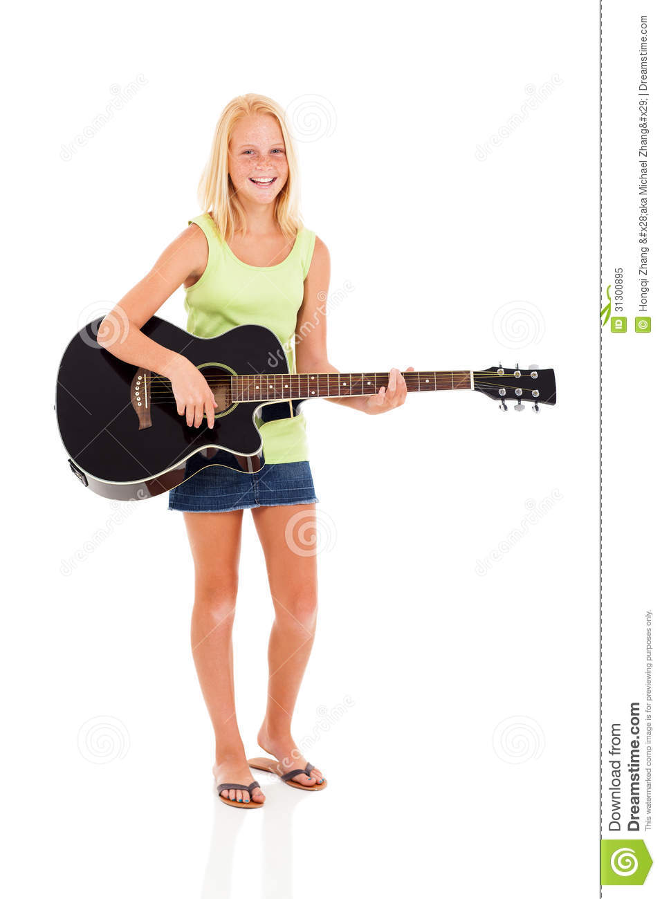Preteen Stock Photo Portait Of A Happy Girl By Richard