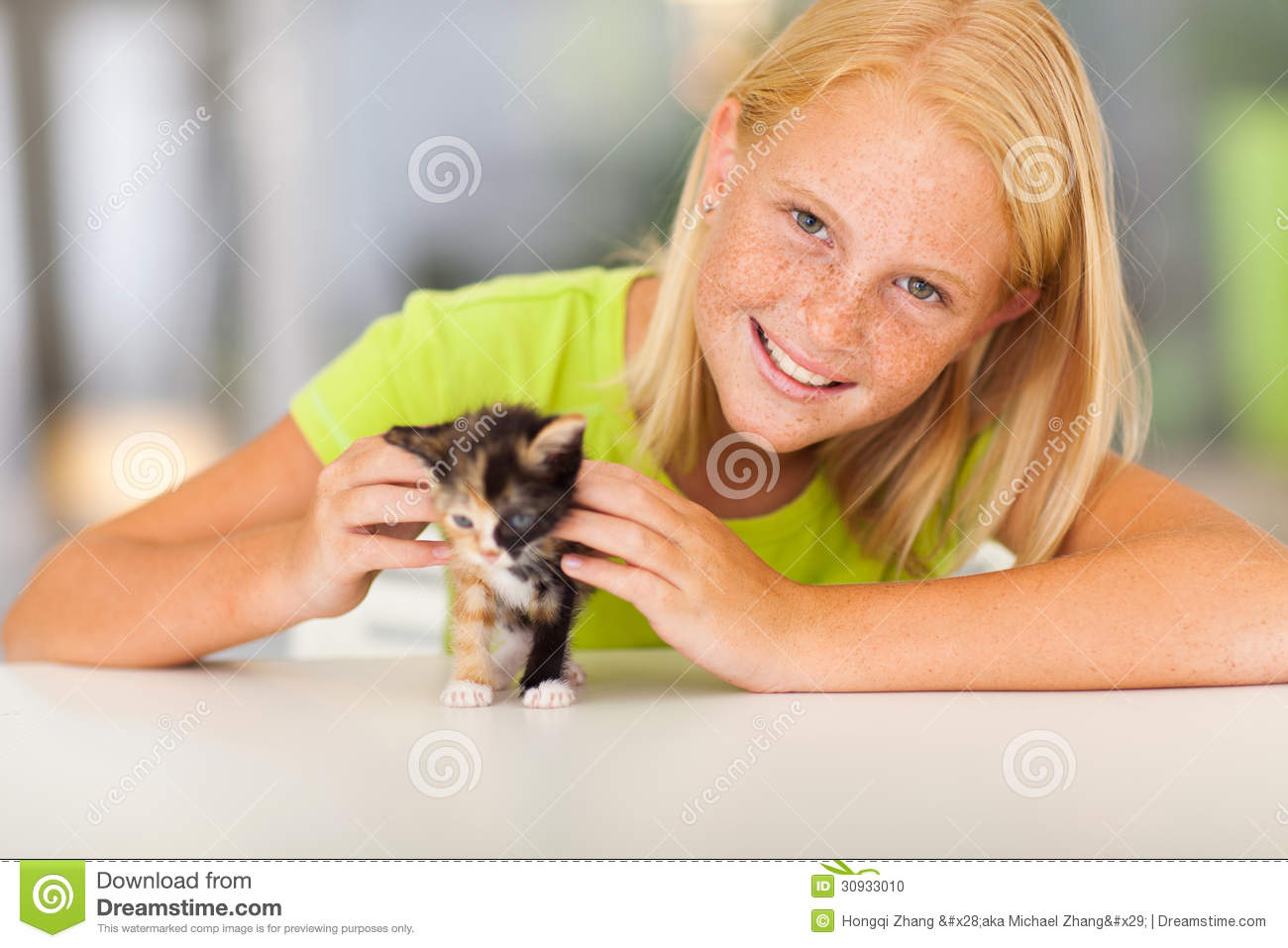 Preteen girl pet stock photo image of green adolescent for Teen home pic