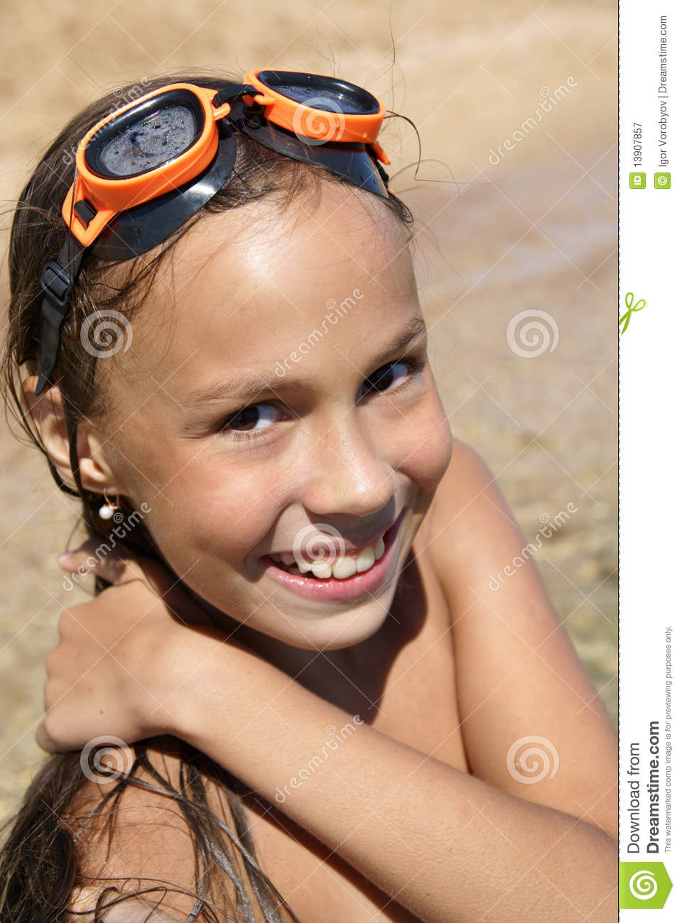 Preteen Girl On Sea Beach Royalty Free Stock Photography - Image ...