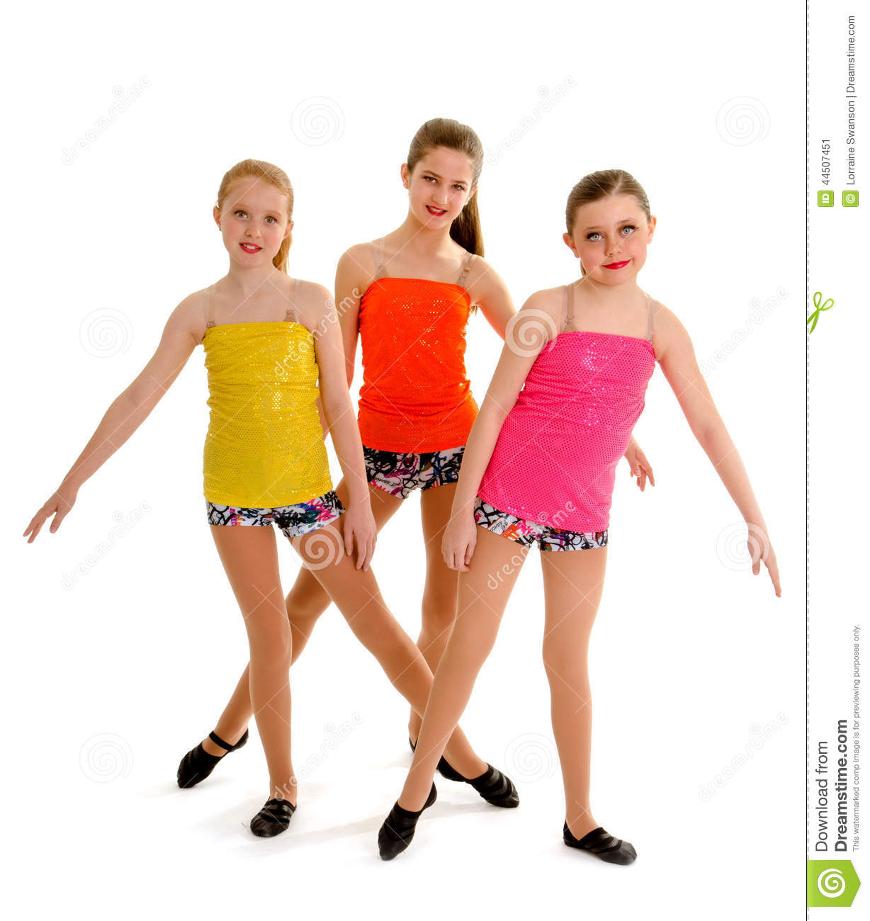4b5fa8244 Preteen Jazz Dance Trio stock image. Image of young, team - 44507451