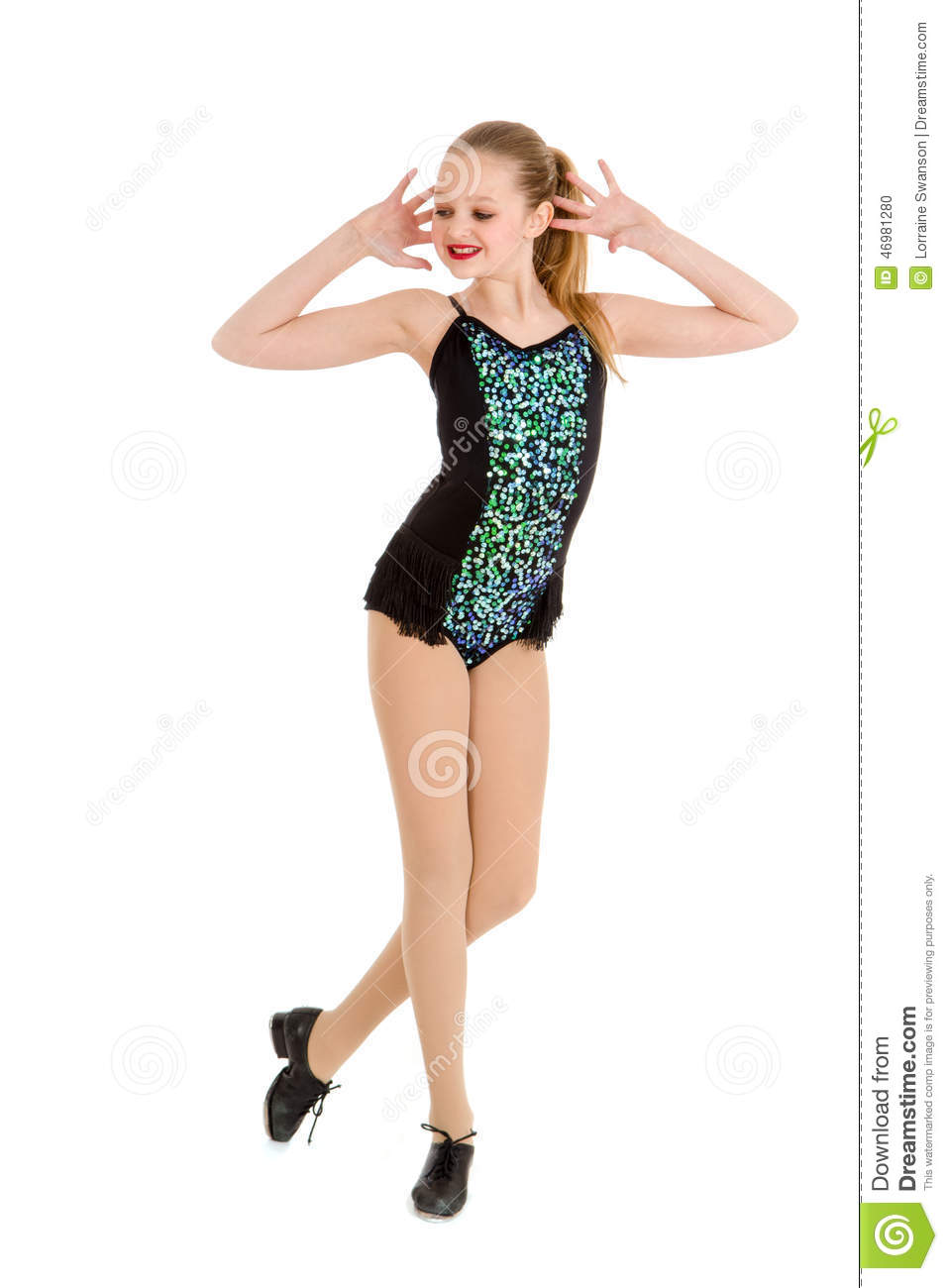 Preteen Tap Dancer in Competition Costume  sc 1 st  Dreamstime.com & Preteen Tap Dancer In Competition Costume Stock Photo - Image of ...
