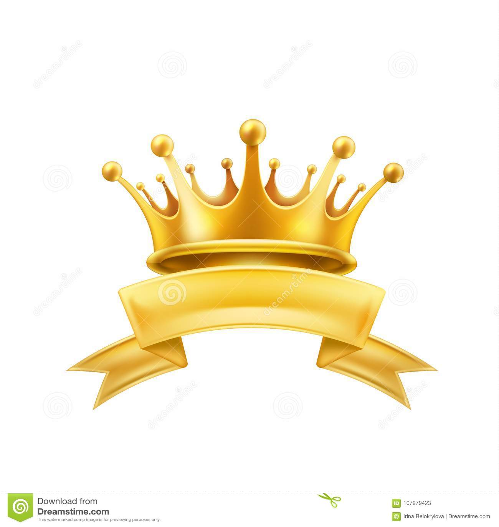 Preto brilhante do sinal do vencedor da fita da coroa do ouro