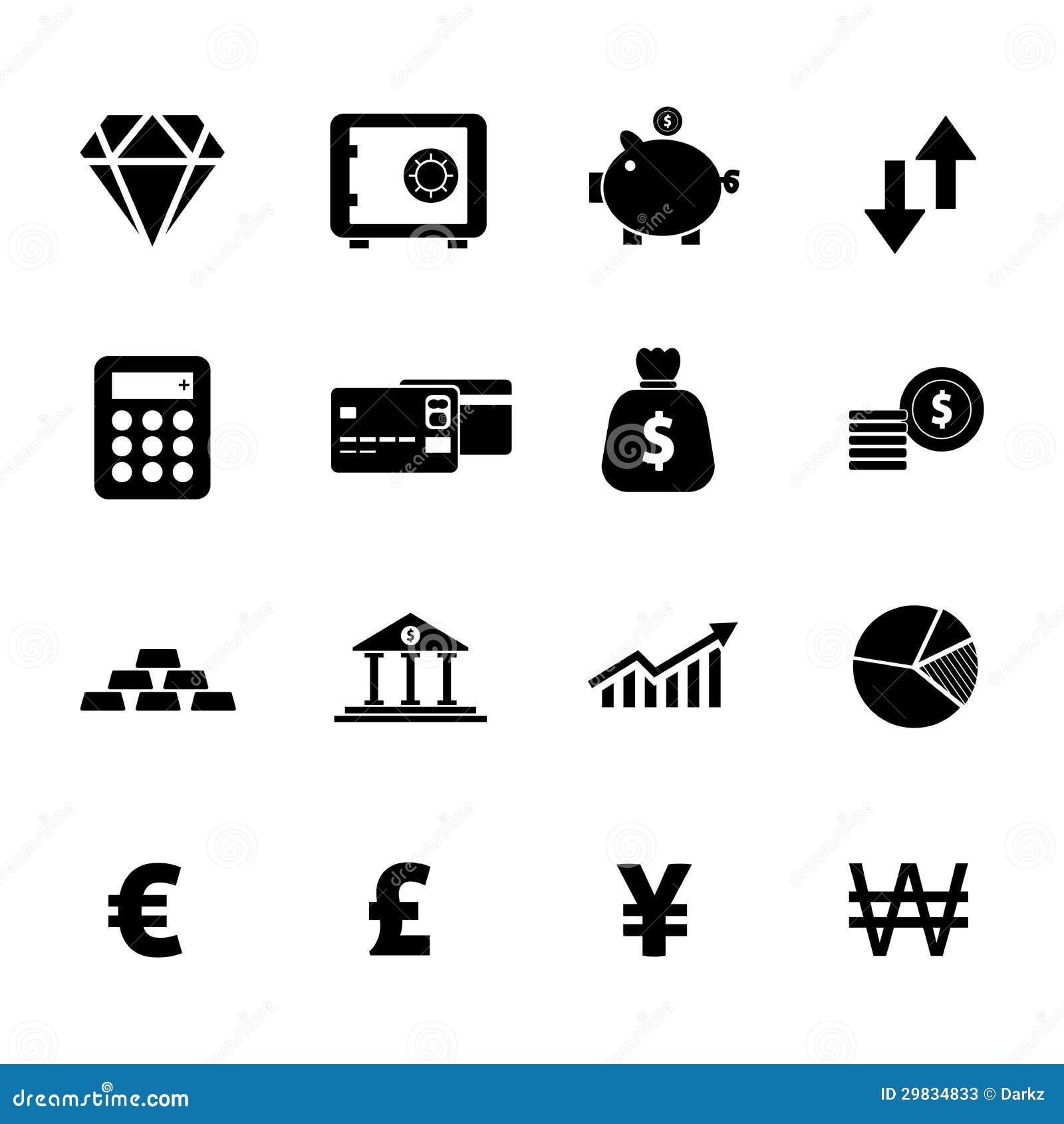 Grupo do ícone da finança