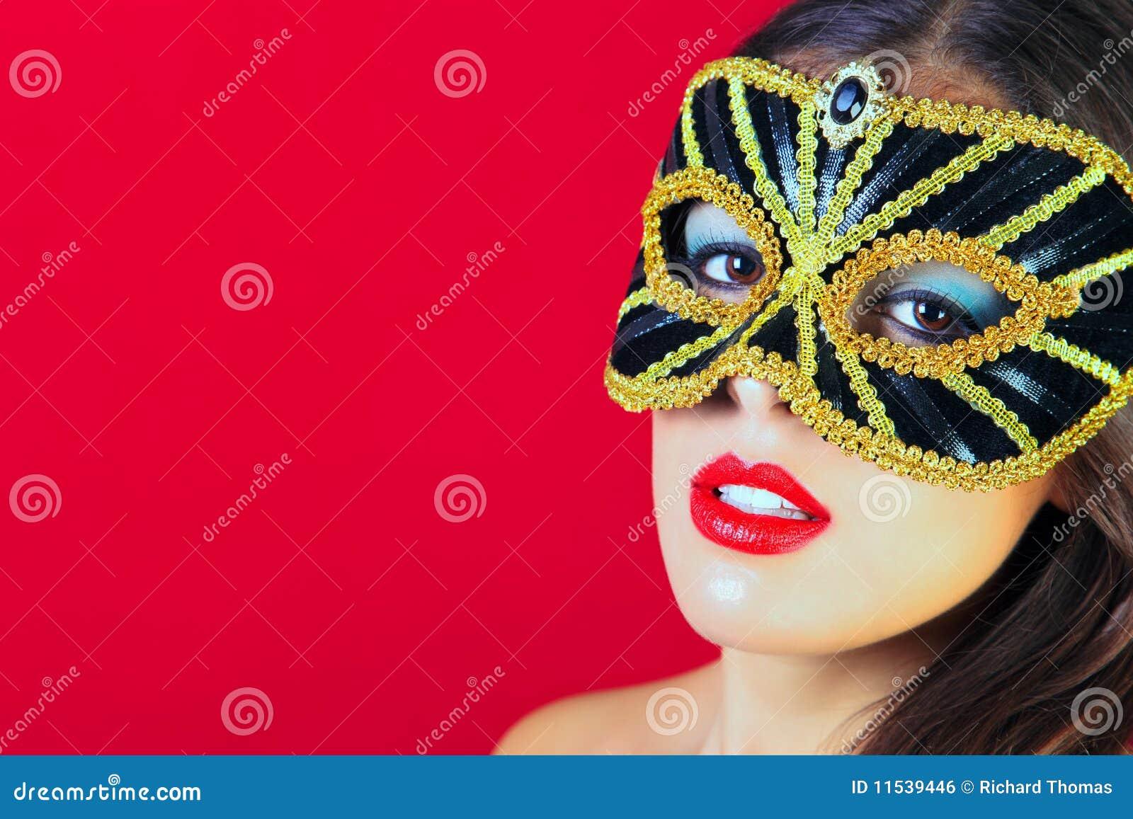 Preto e máscara do disfarce do ouro