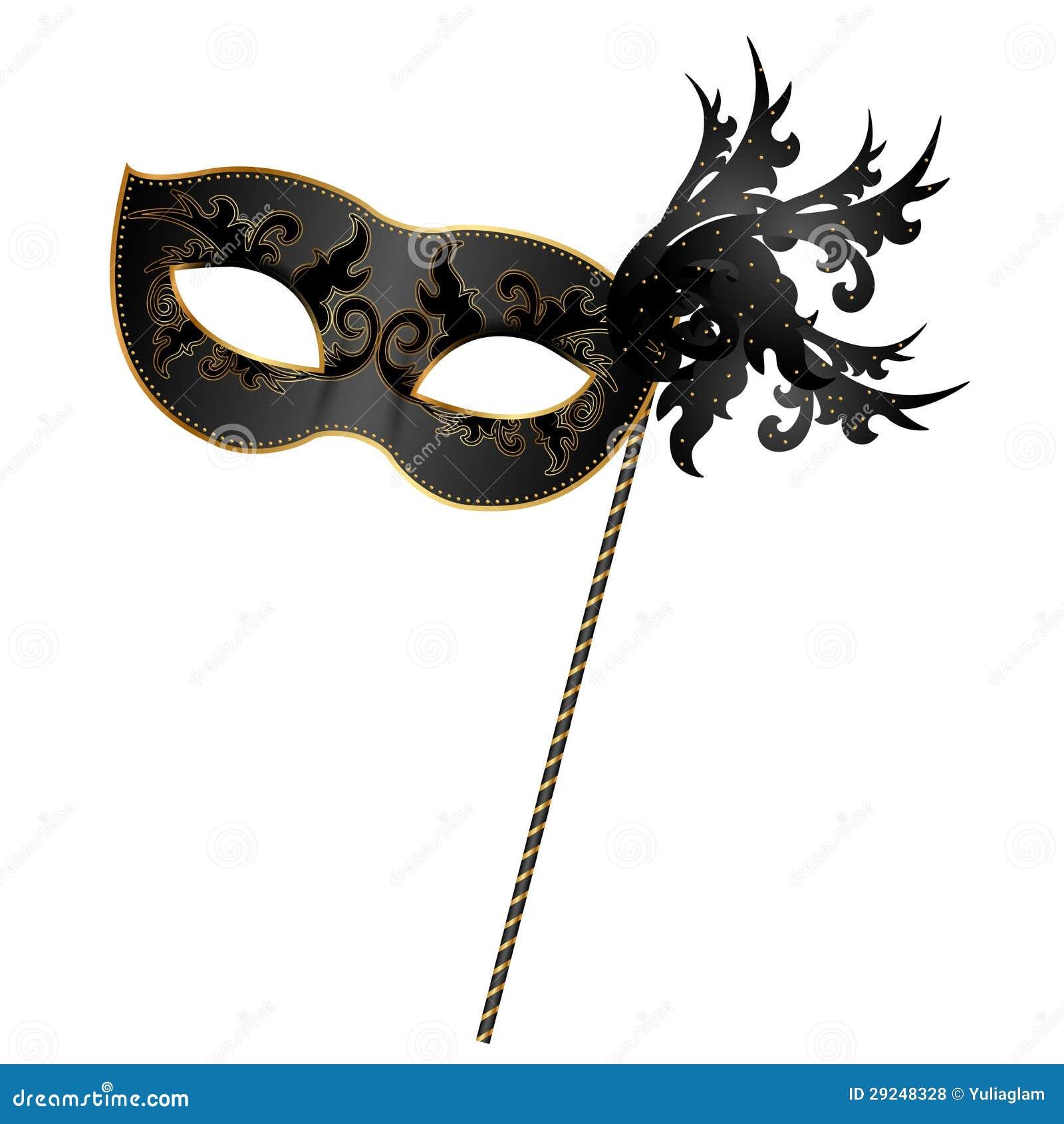 Download Preto e máscara do ouro ilustração do vetor. Ilustração de escuro - 29248328