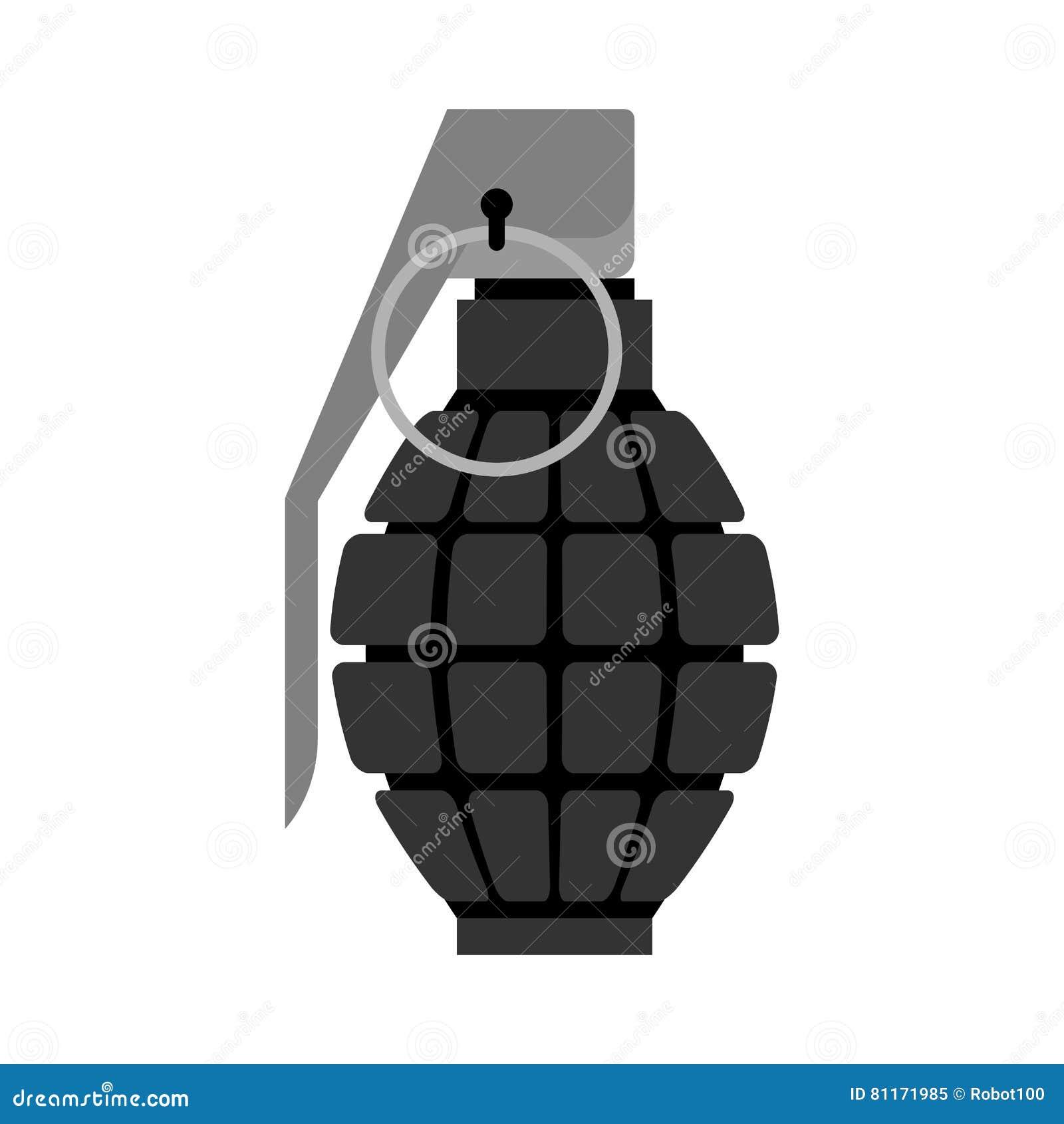 Preto militar da granada Explosivos do exército Munição da tropa e