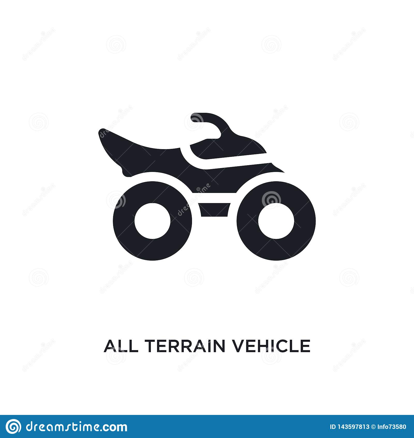 Preto todo o ícone isolado veículo do vetor do terreno ilustração simples do elemento dos ícones do vetor do conceito do transpor