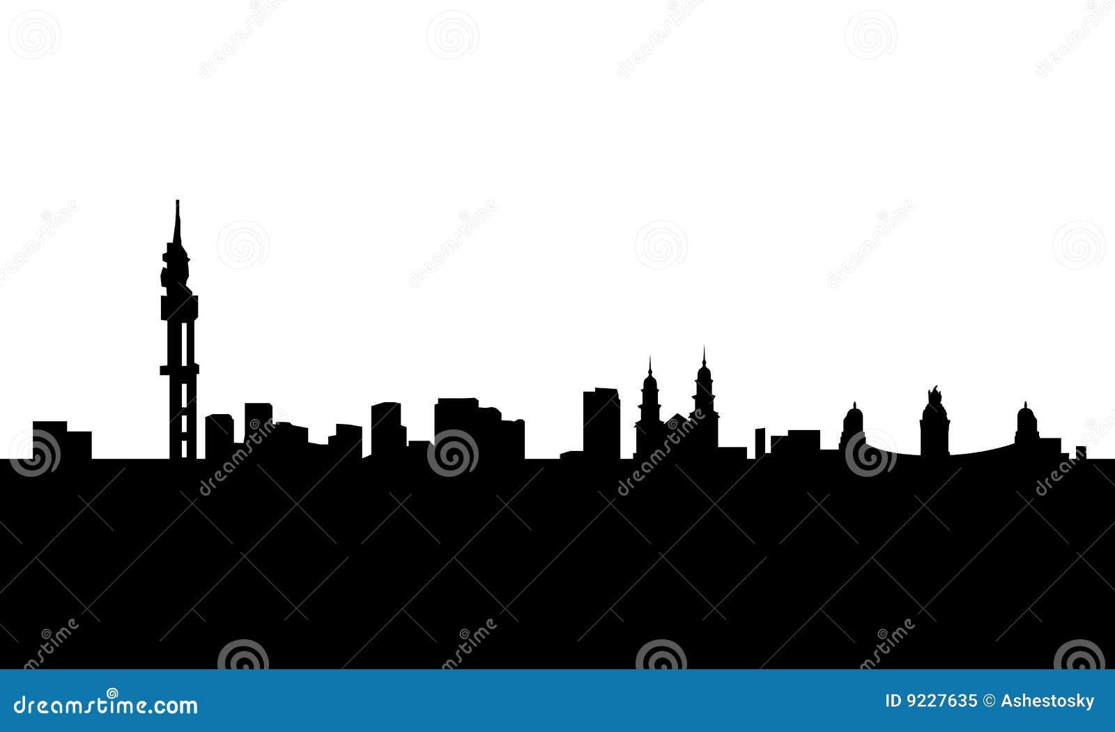 Pretoria City Skyline Vector Isolated Royalty Free Stock Photo ...