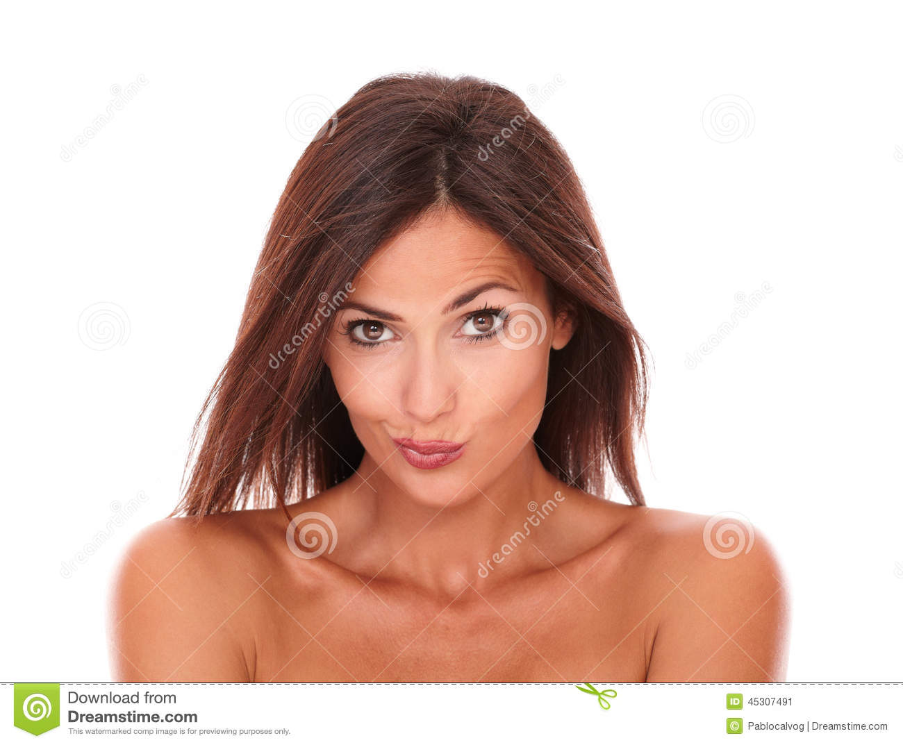 pretty adult female looking at camera stock image - image of adult