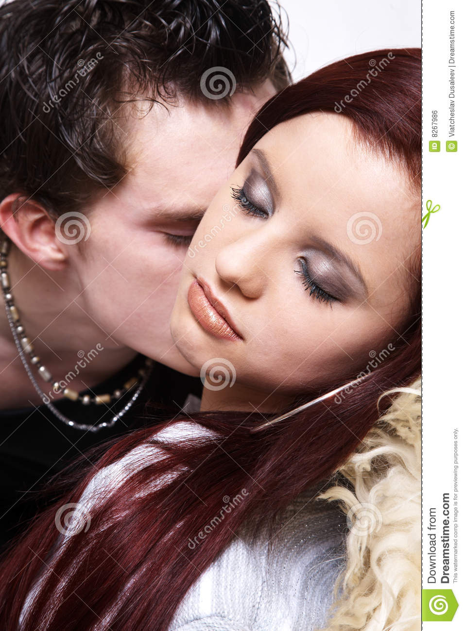 Pretty Adult Kissing Couple Royalty Free Stock Image - Image 8267986-2342