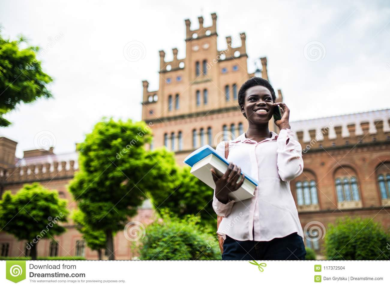 Yes I Pass Exam  Young Pretty African American College Student