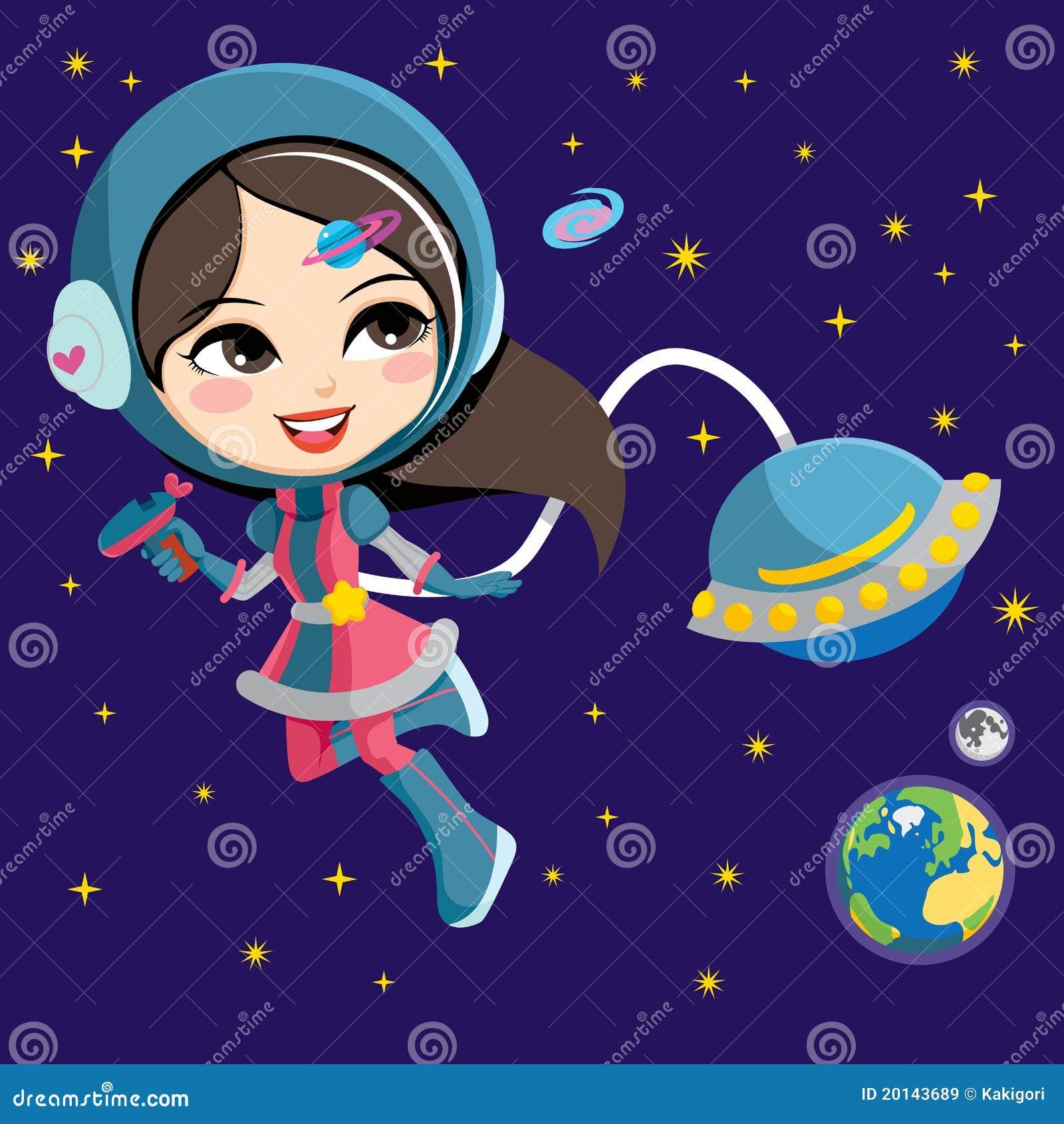Pretty Astronaut Girl