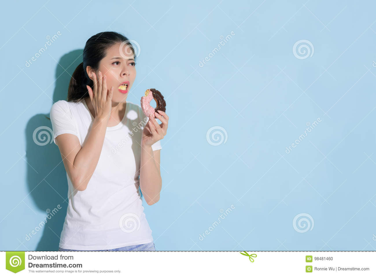 Download Pretty Attractive Girl Student Having Tooth Decay Stock Photo - Image of health, hygiene: 98481460