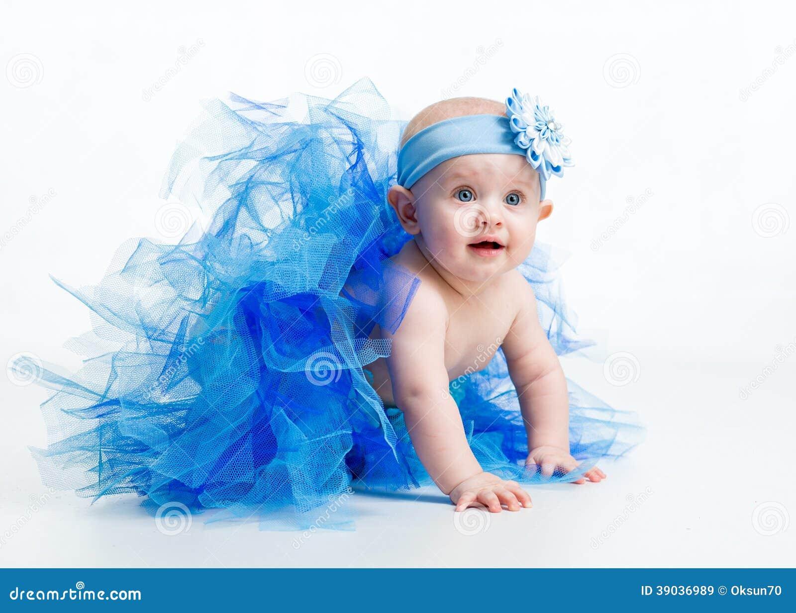 pretty baby girl weared tutu stock image - image of happy, beautiful