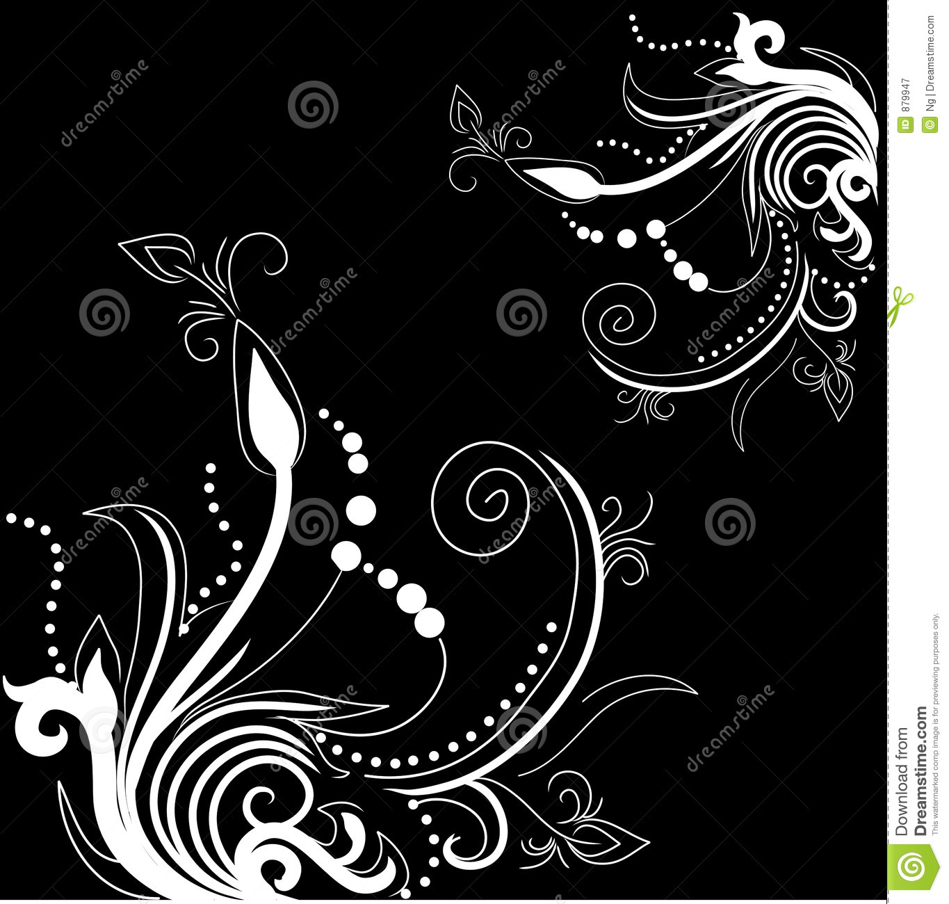 pretty background with floral designs stock illustration