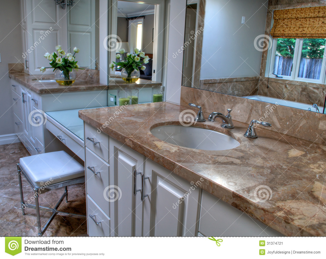 Pretty Bathroom Neutral Colors Stock Image Image 31374721