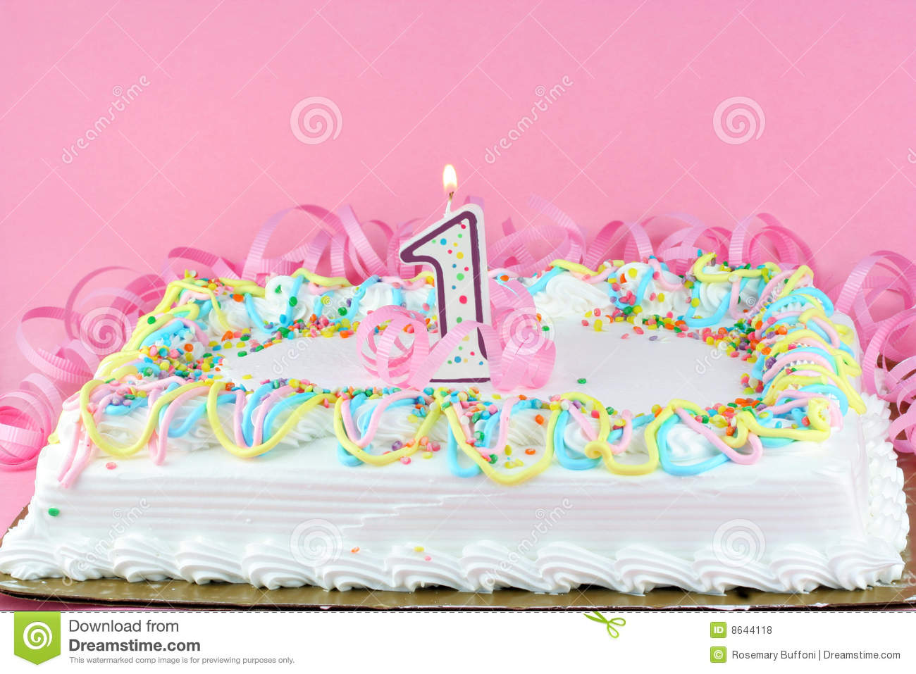 Prime Pretty Birthday Cake With Lit Candle Stock Photo Image Of Snack Personalised Birthday Cards Veneteletsinfo
