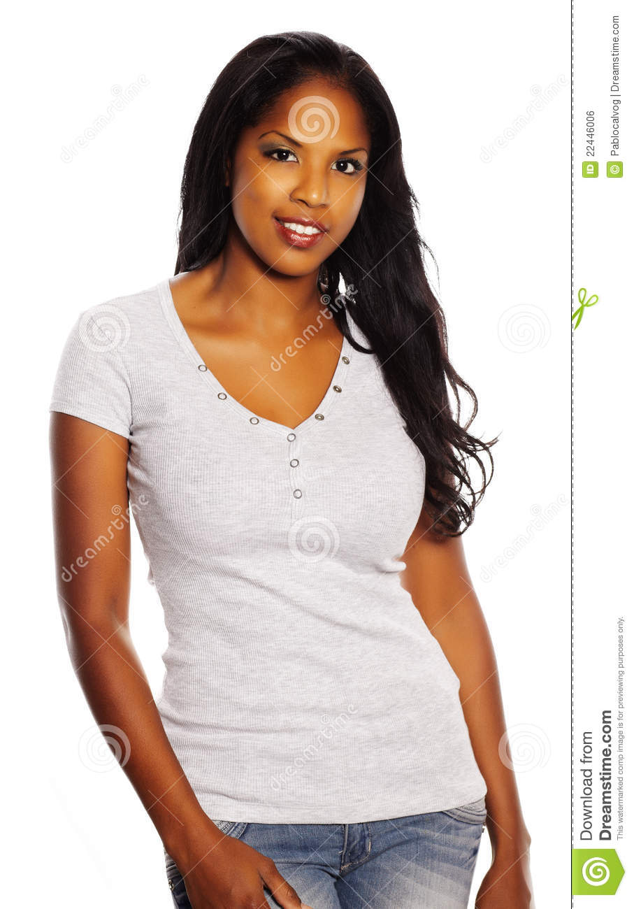 Pretty Black Woman Stock Photo. Image Of Charming, People