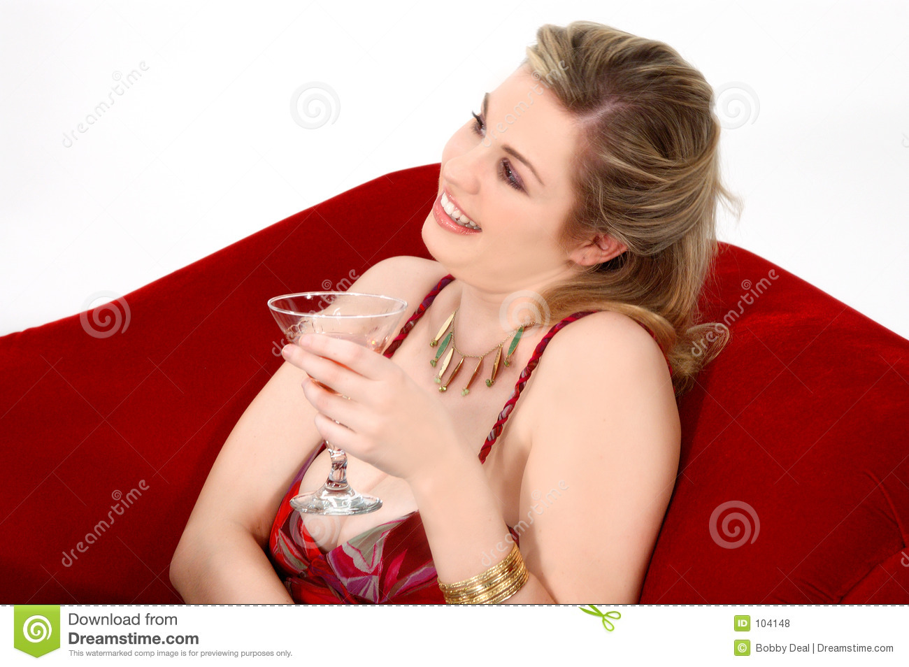 Download Pretty Blond stock photo. Image of blond, drink, female - 104148