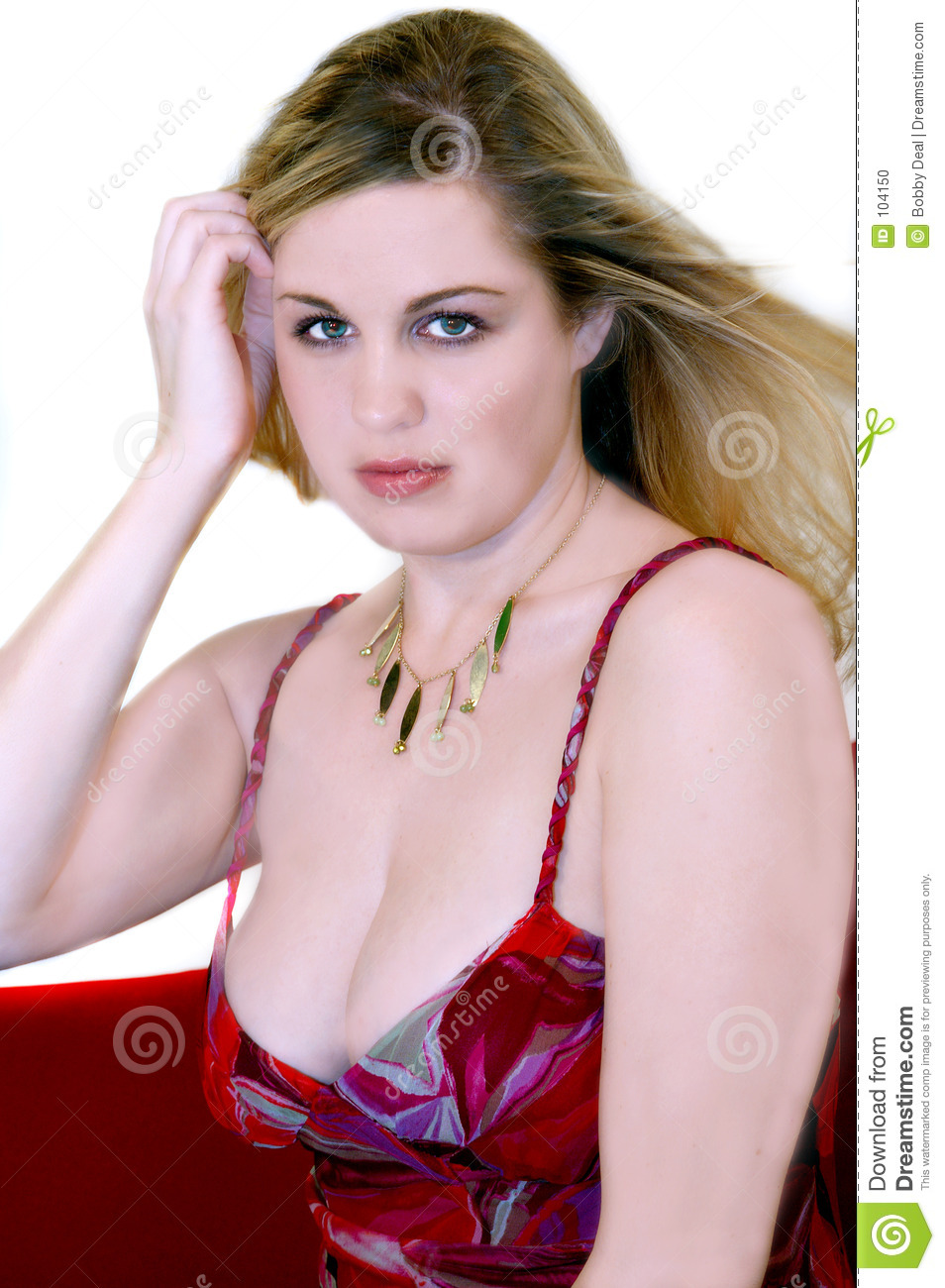 Download Pretty Blond stock photo. Image of breasts, people, white - 104150