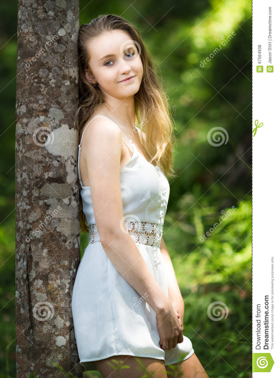 Pretty Blond Girl Stock Photo. Image Of Blonde, Shoulders