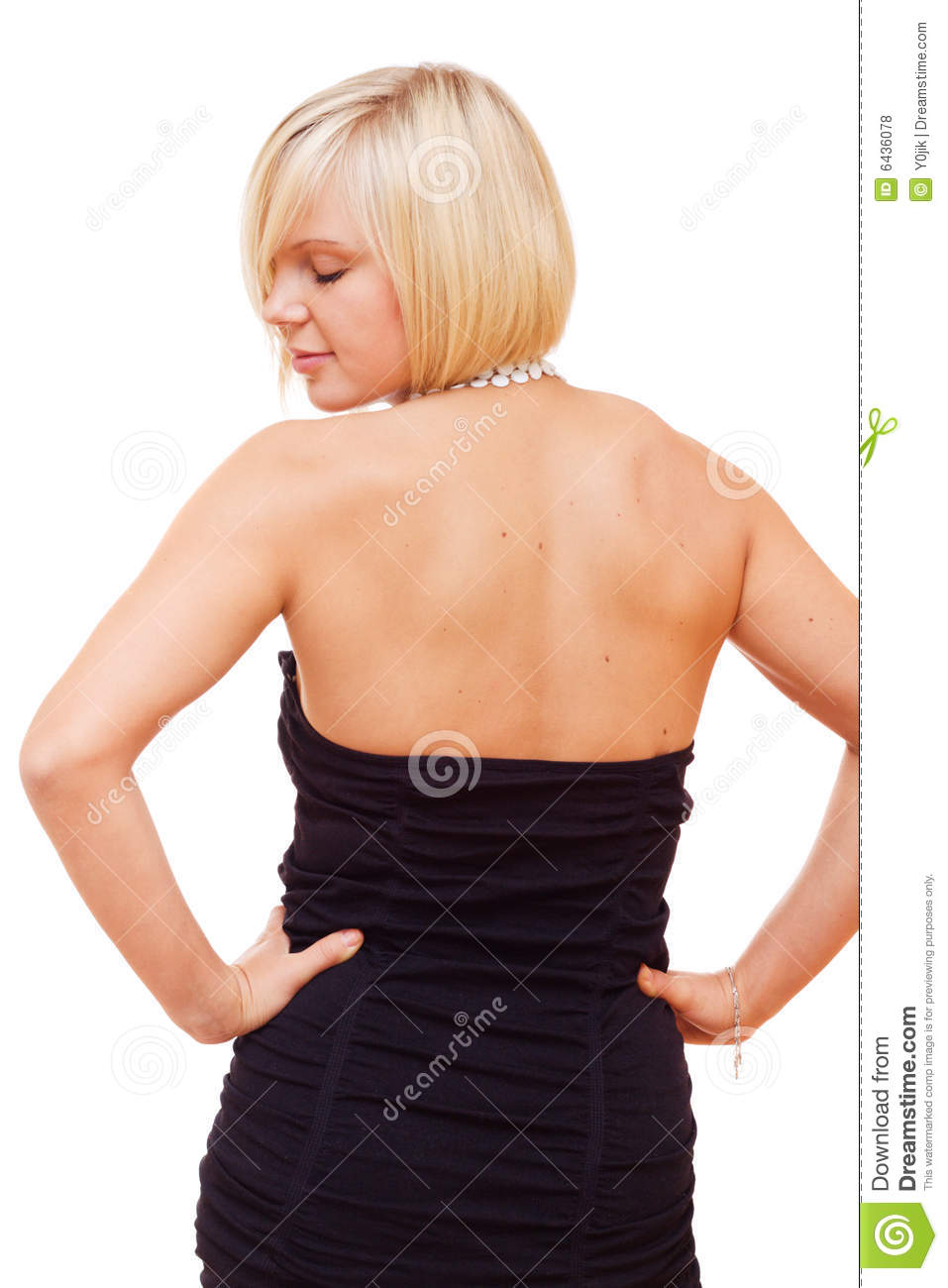Pretty Blonde Girl Looking Back Stock Photo - Image of