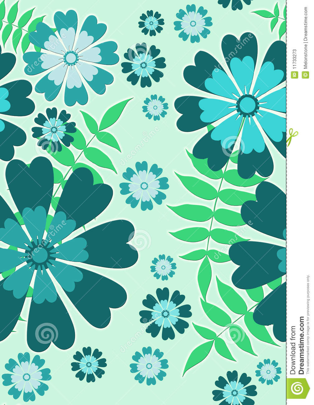 Blue Seamless Flowers Stock Illustration Illustration Of Blue