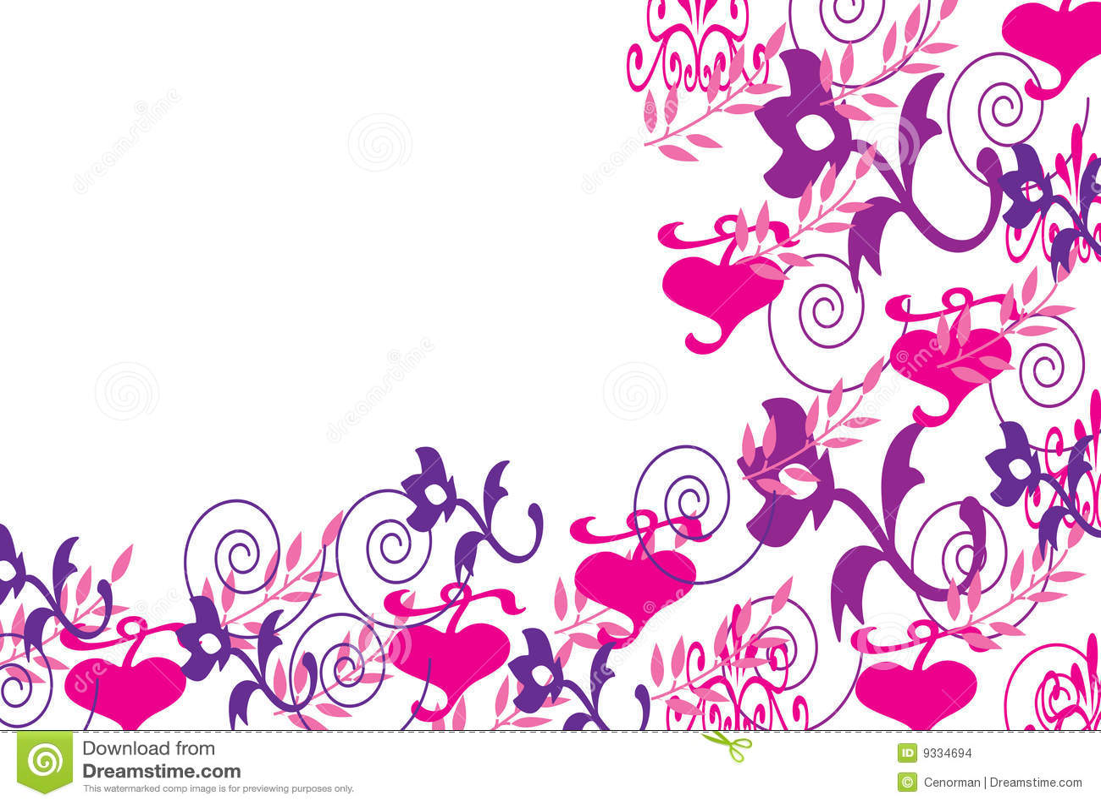 Pretty Border Stock Illustration Illustration Of Flower