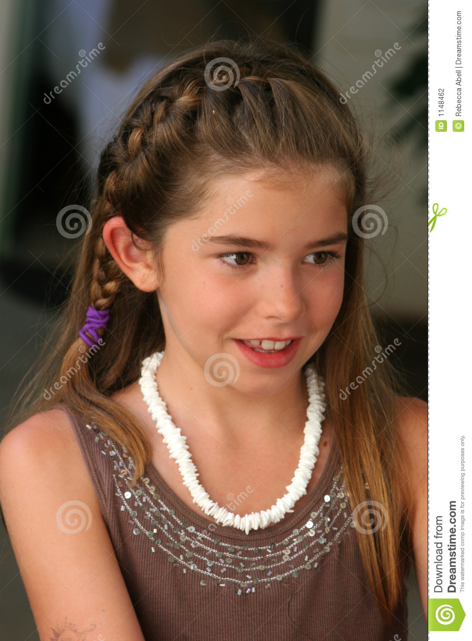 Pretty Child Stock Photo Image Of Kids Braid Shirt