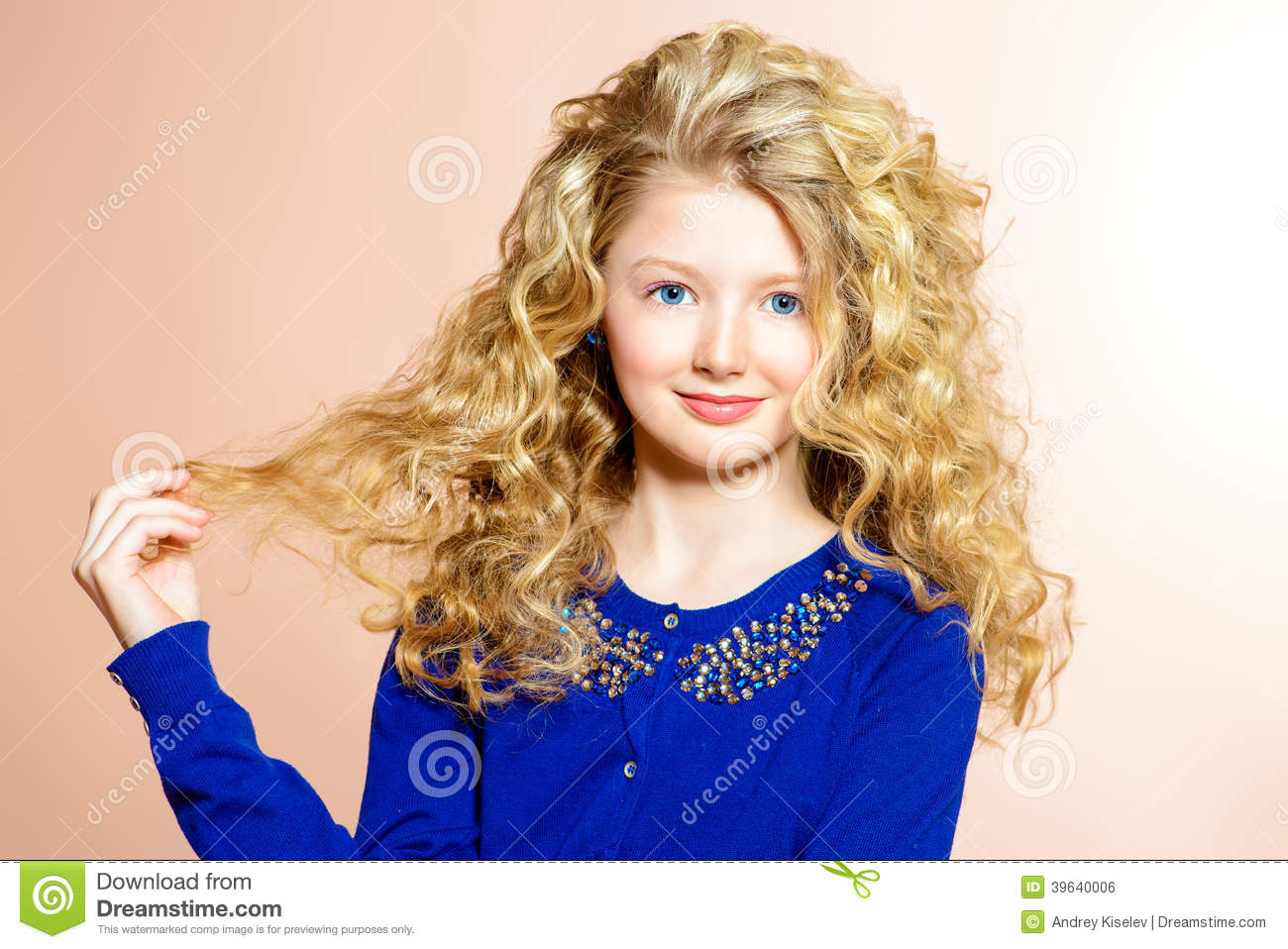 Pretty Child Stock Photo Image Of Hairstyle Healthy 39640006