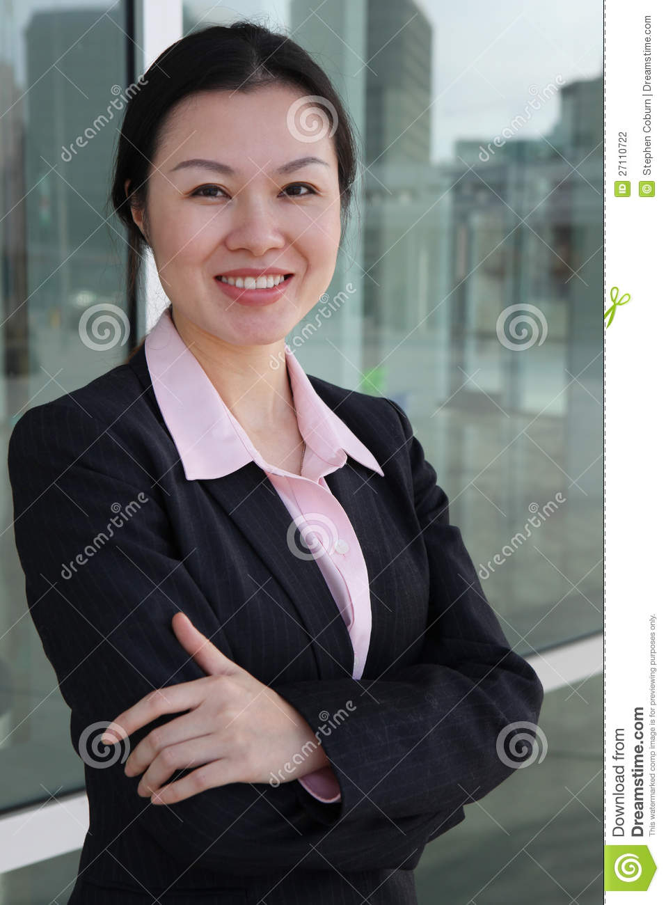 Pretty Chinese Business Woman Stock Photo - Image of