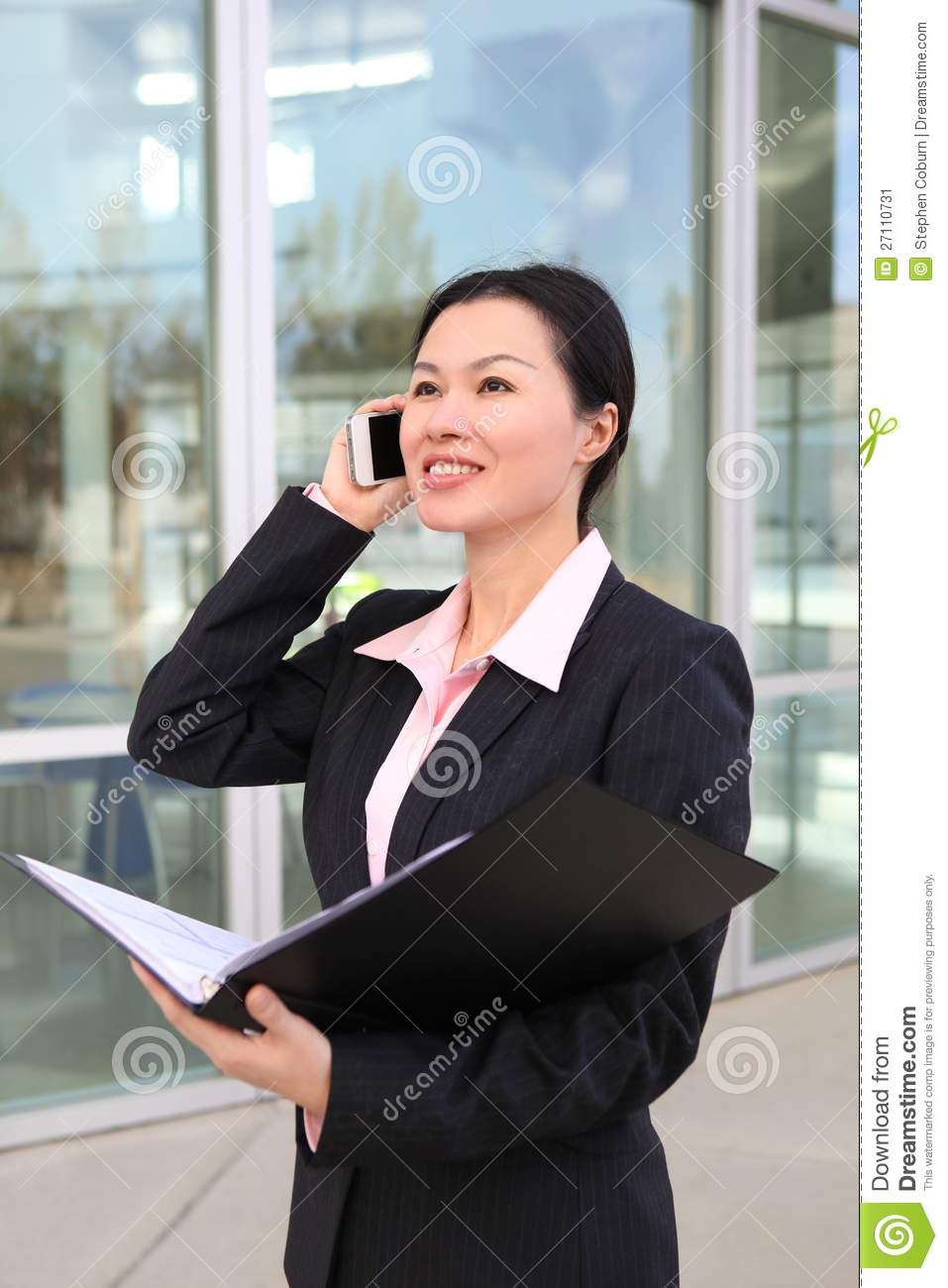 pretty chinese business woman stock image