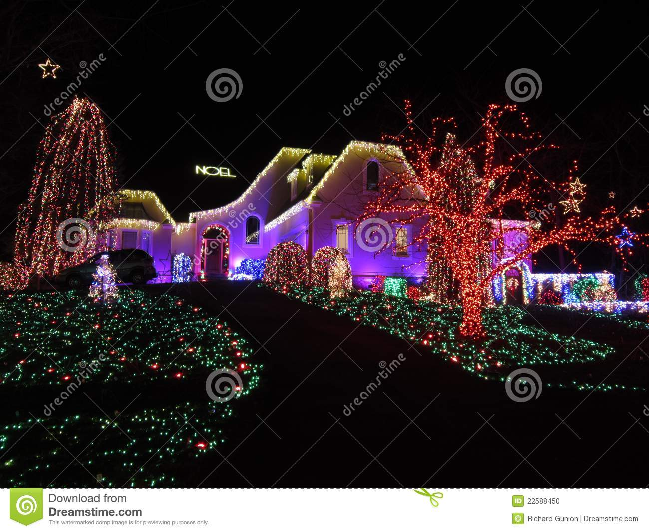 Pretty christmas home in virginia stock photo image - Pretty christmas pictures ...