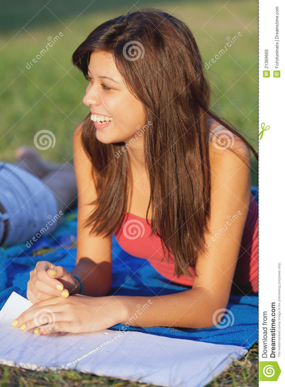 Pretty College Girl Royalty Free Stock Images Image