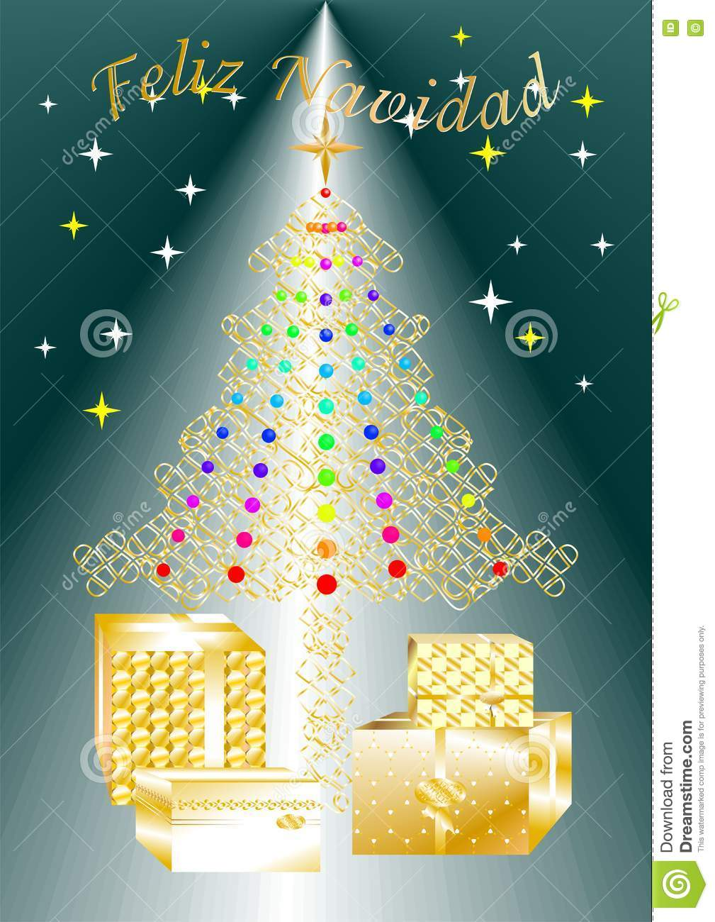 Pretty Colorful Christmas Greeting Card Written In Several Languages