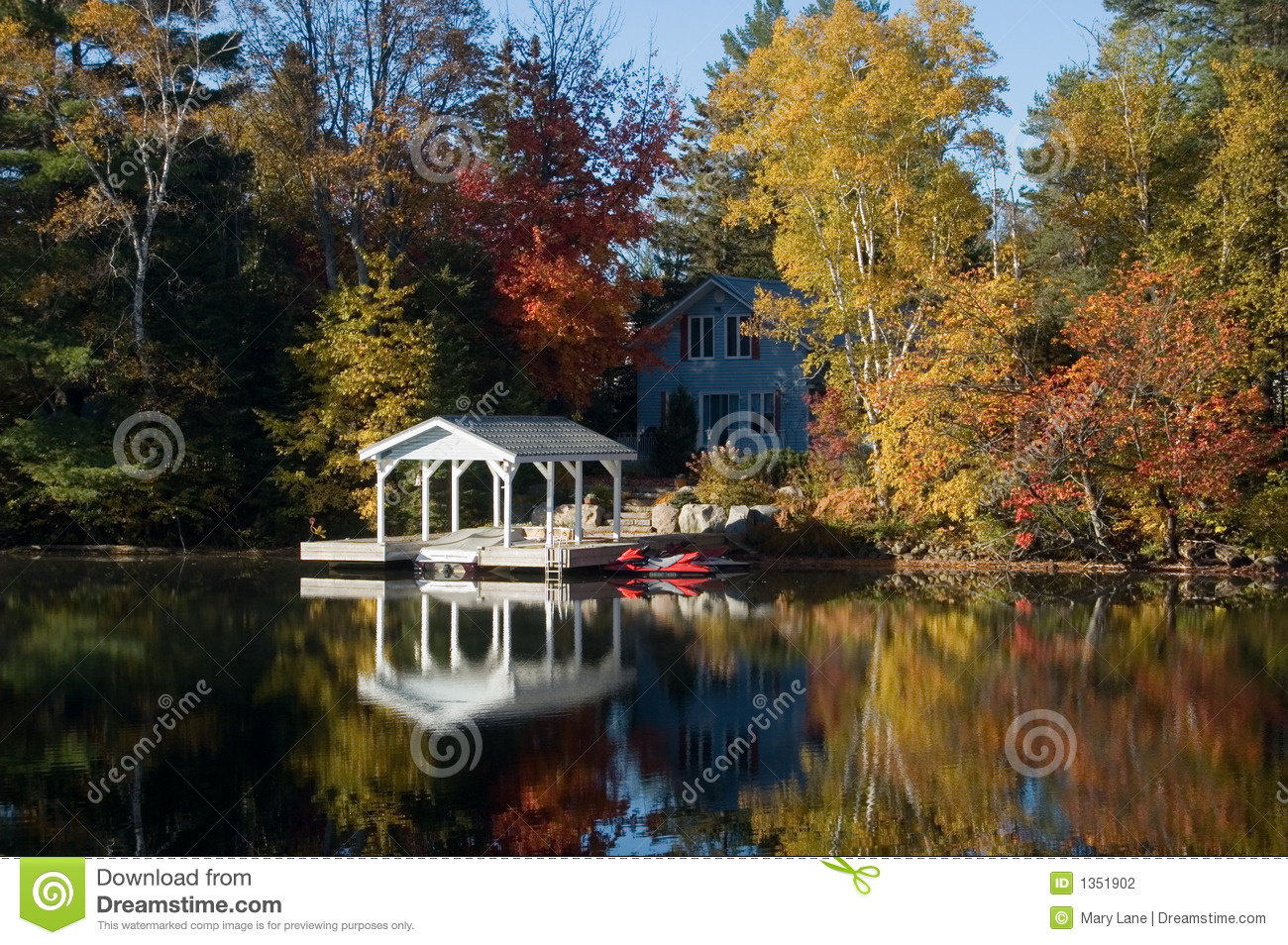 Pretty Cottage Stock Photo Image Of Leaves Outdoors