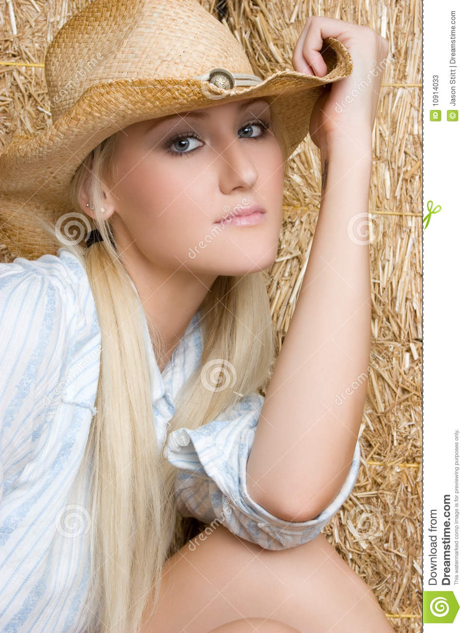 Pretty Cowgirl Stock Photos Image 10914033