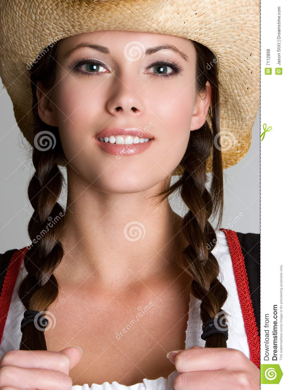 Pretty Cowgirl Royalty Free Stock Photos - Image: 7112898