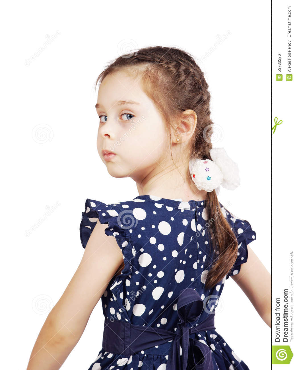 Pretty cute young girl wearing the dark blue dress looking Cute teenage girls pics