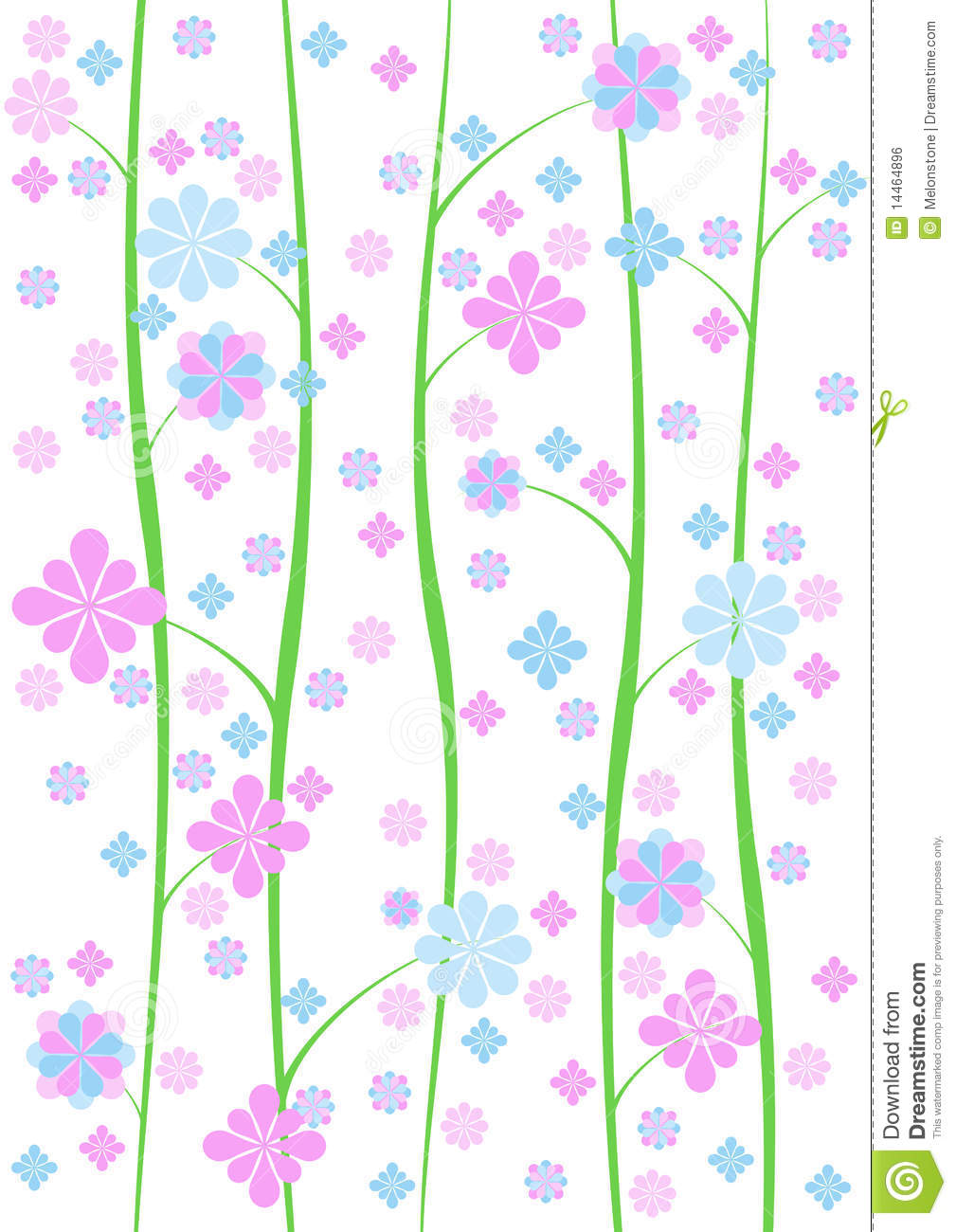 Pretty Dainty Wallpaper Background Stock Illustration ...
